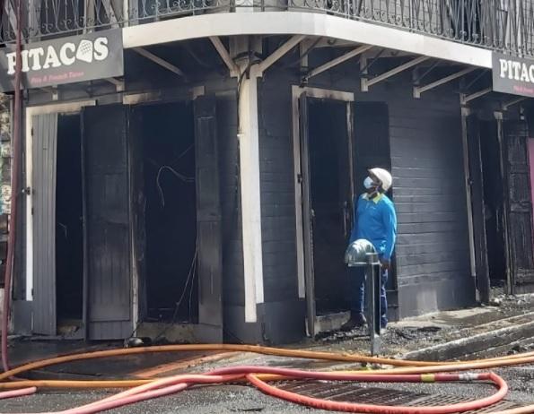 Un incendie dans un restaurant de Pointe-à-Pitre