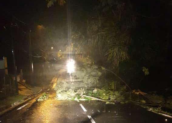 Un temps de tempête dans certains quartiers de Martinique