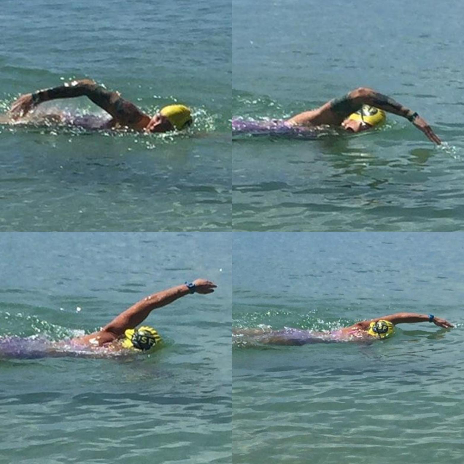 La nageuse américaine Katie Blair se prépare pour la traversée aller retour Sainte Lucie - Martinique