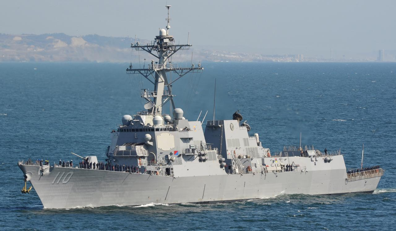 Un navire de guerre américain en escale technique à Fort-de-France