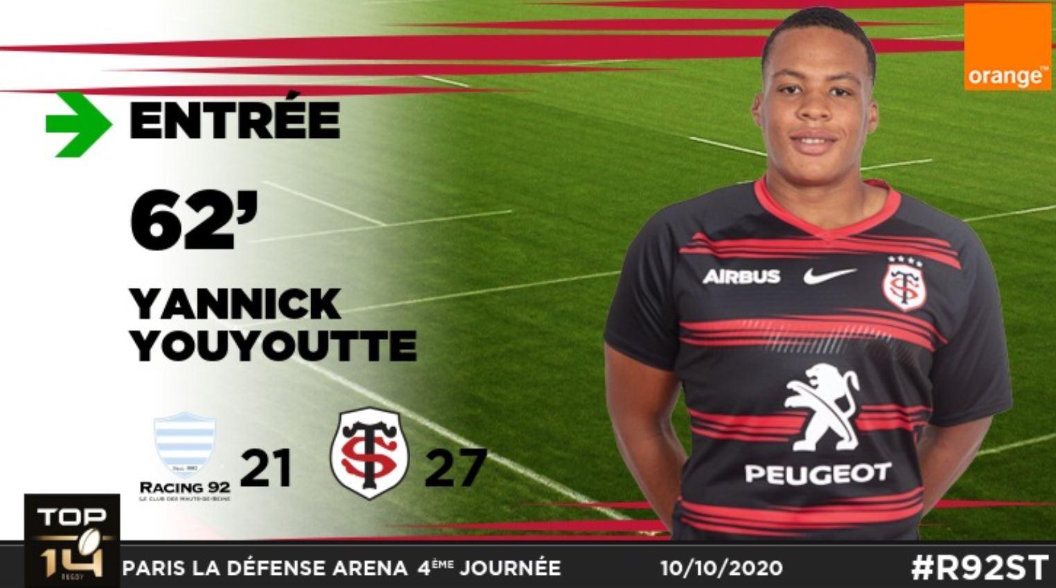 Rugby : grande première chez les pros pour Yannick Youyoutte