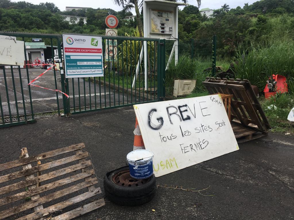 Mouvement de grève dans les déchetteries de la Martinique