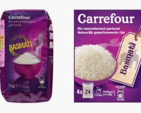 Carrefour rappelle des lots de riz basmati pouvant contenir des toxines