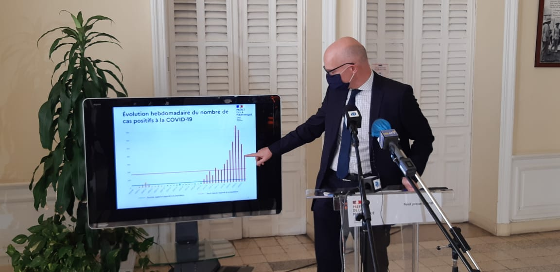 Le préfet de la Martinique annonce la poursuite du confinement en Martinique