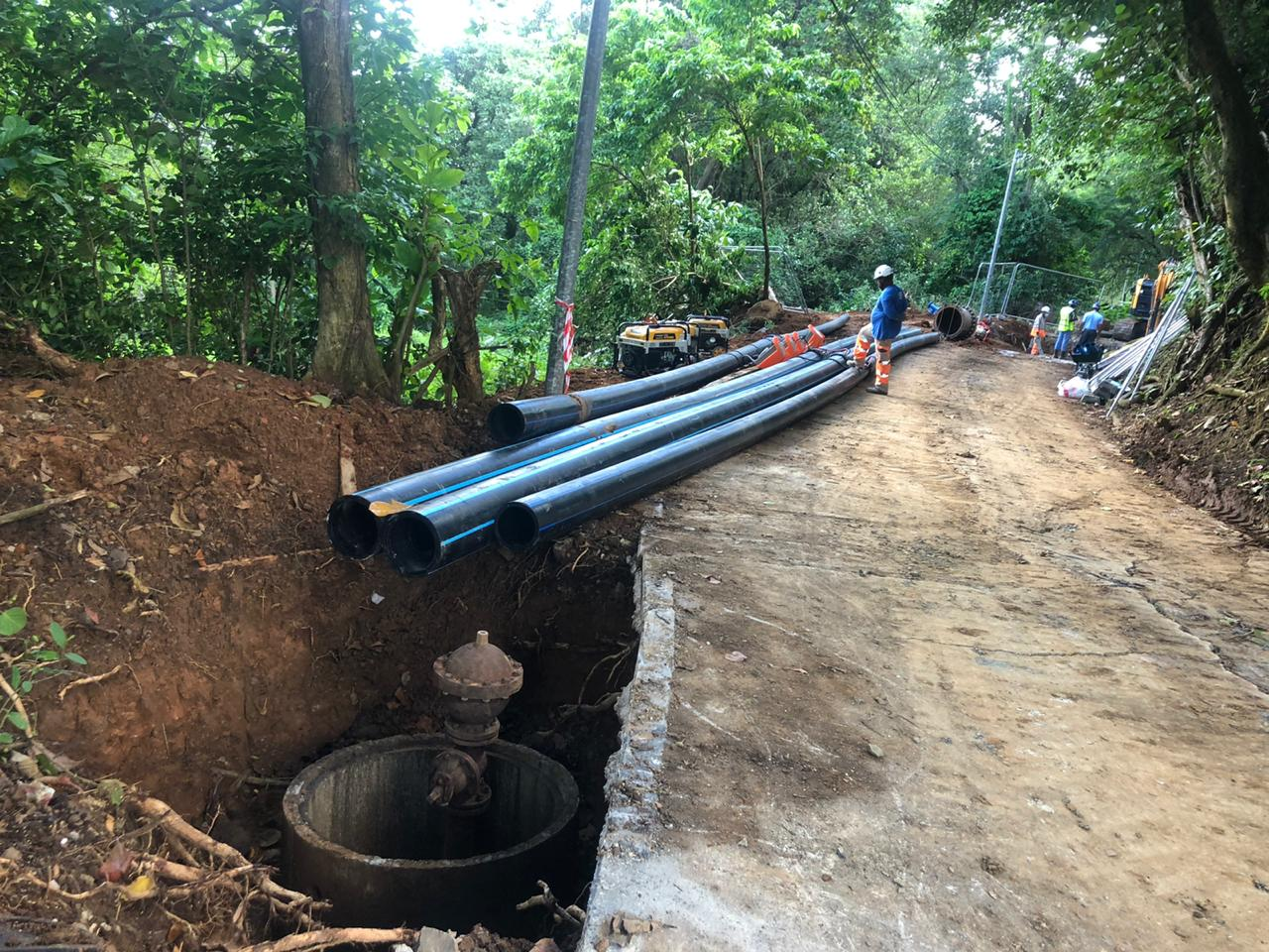 Rupture de canalisation à Sainte-Marie : les travaux de réparation finis avant la fin du mois?