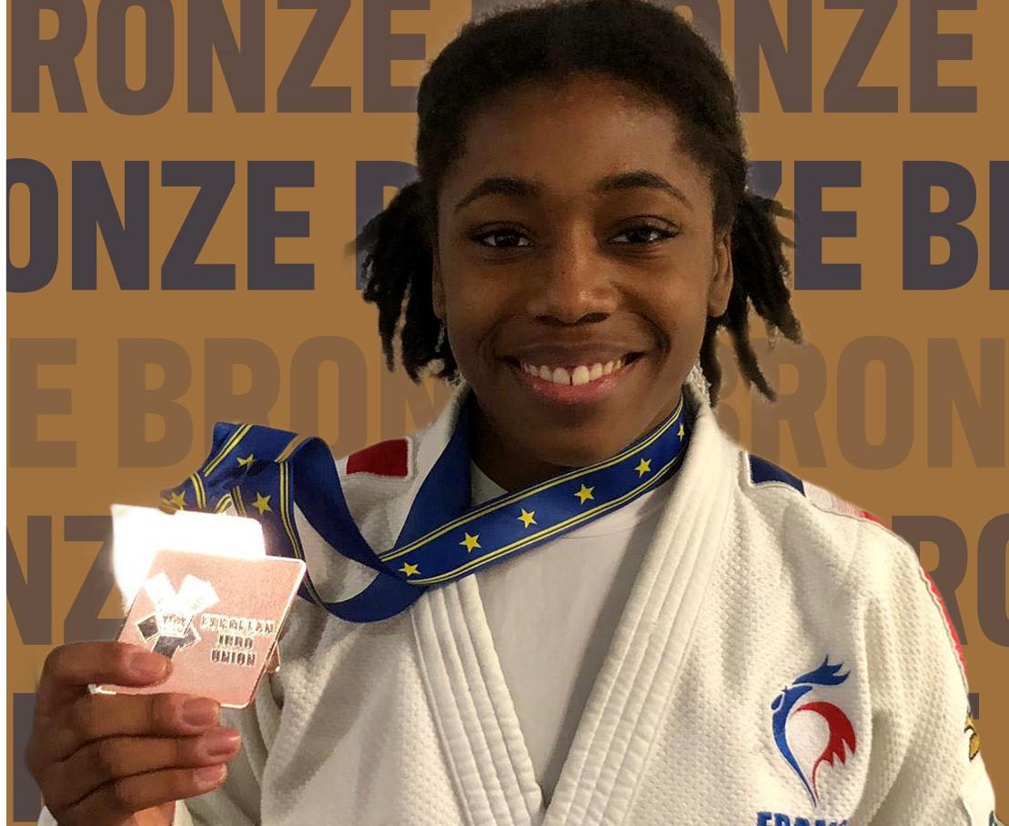 Judo : Sarah-Léonie Cysique décroche la médaille de bronze à Prague