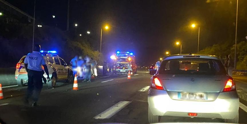 Un motard grièvement blessé dans un accident sur l'autoroute