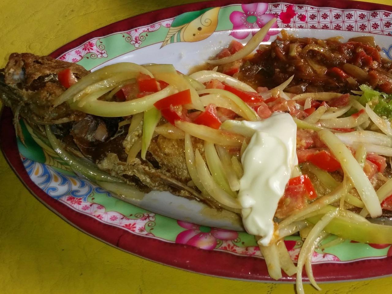 La recette du poisson frit d'An Ba Tol La