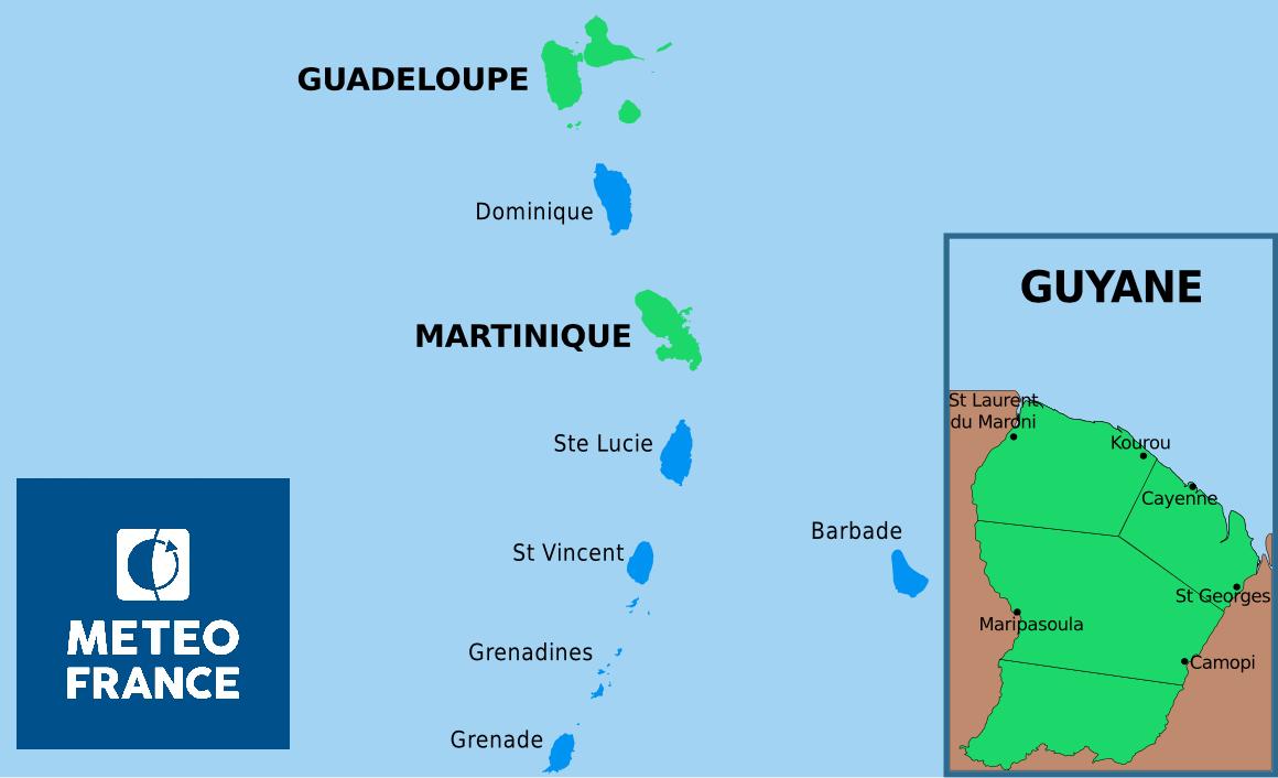 Météo : retour au vert , après un épisode pluvieux soutenu dans le Nord Caraïbe