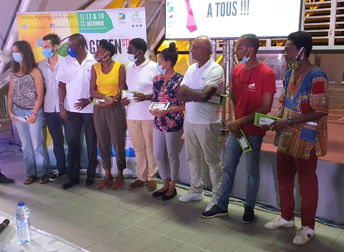Le palmarès du concours« Agreen startup Guadeloupe»