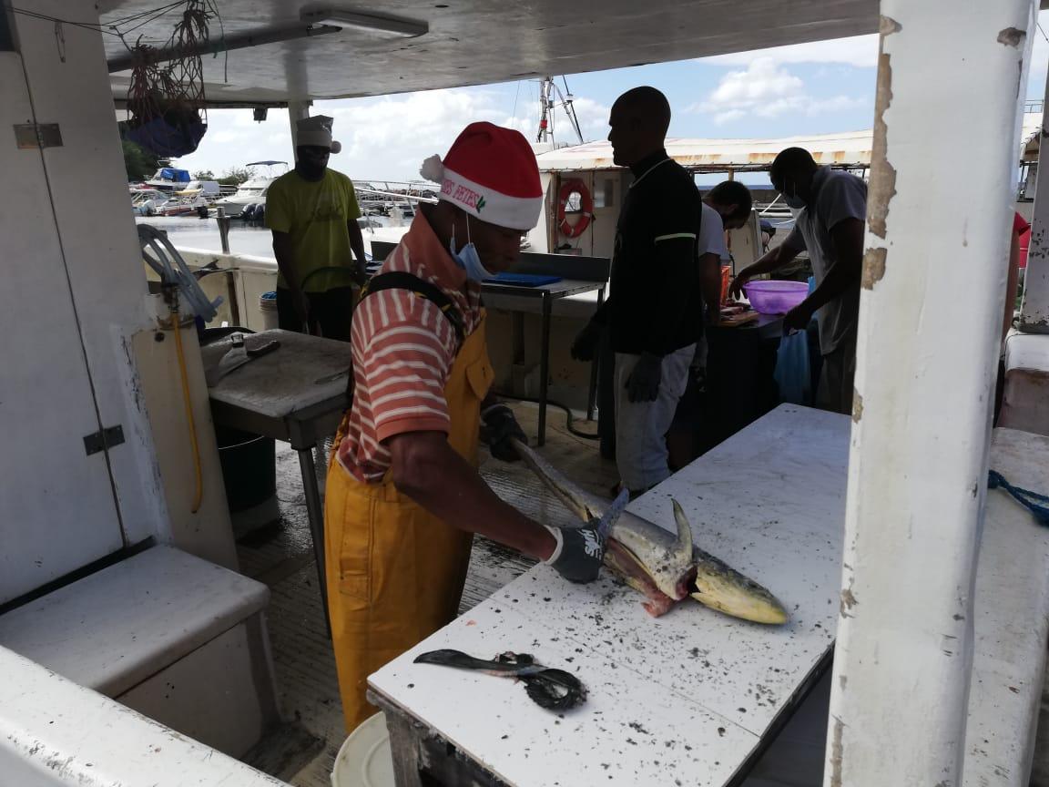 Les marins pêcheurs se mobilisent sur le Malecon de Fort-de-France
