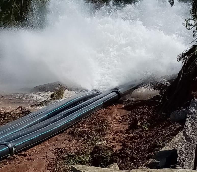 Nouvelle casse de canalisation d'eau à Fonds Saint-Jacques à Sainte-Marie