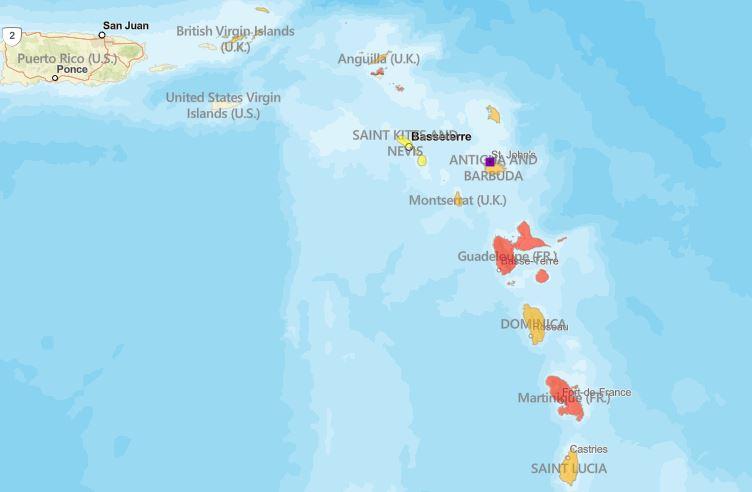 Le département d'état américain recommande de ne pas se rendre aux Antilles françaises