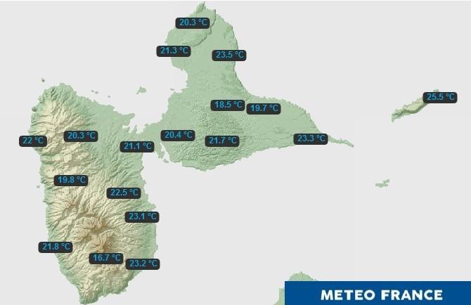 Coup de froid : les températures nocturnes baissent en Guadeloupe