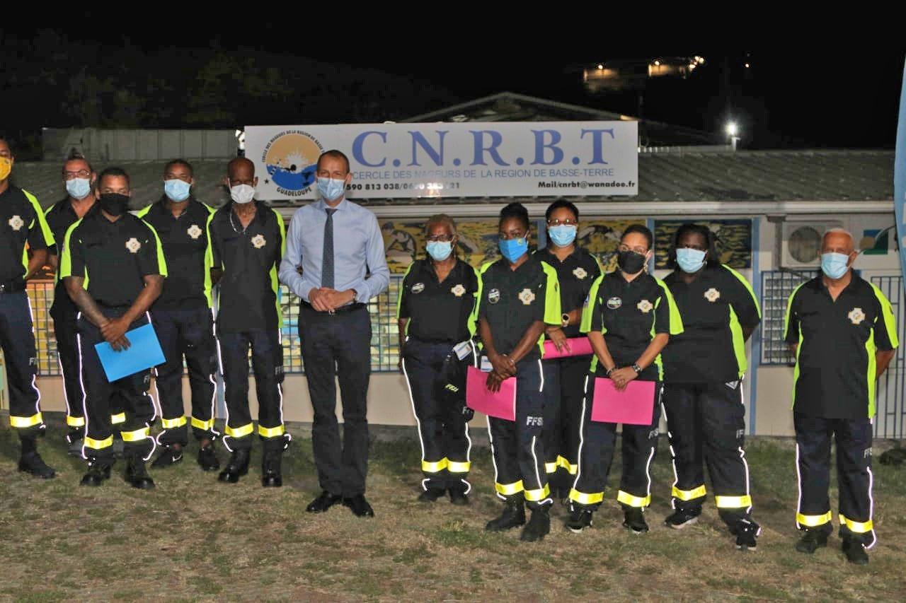 Le Préfet rend hommage aux bénévoles FFSS du CNRBT