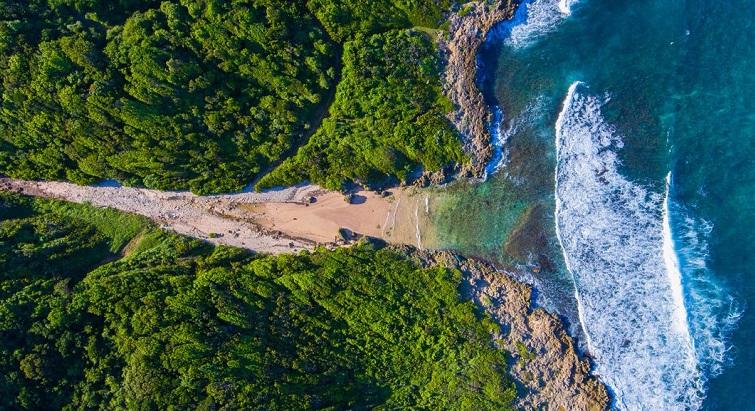 Crique isolée et sauvage, l'Anse Patate est l'une des merveilles du littoral