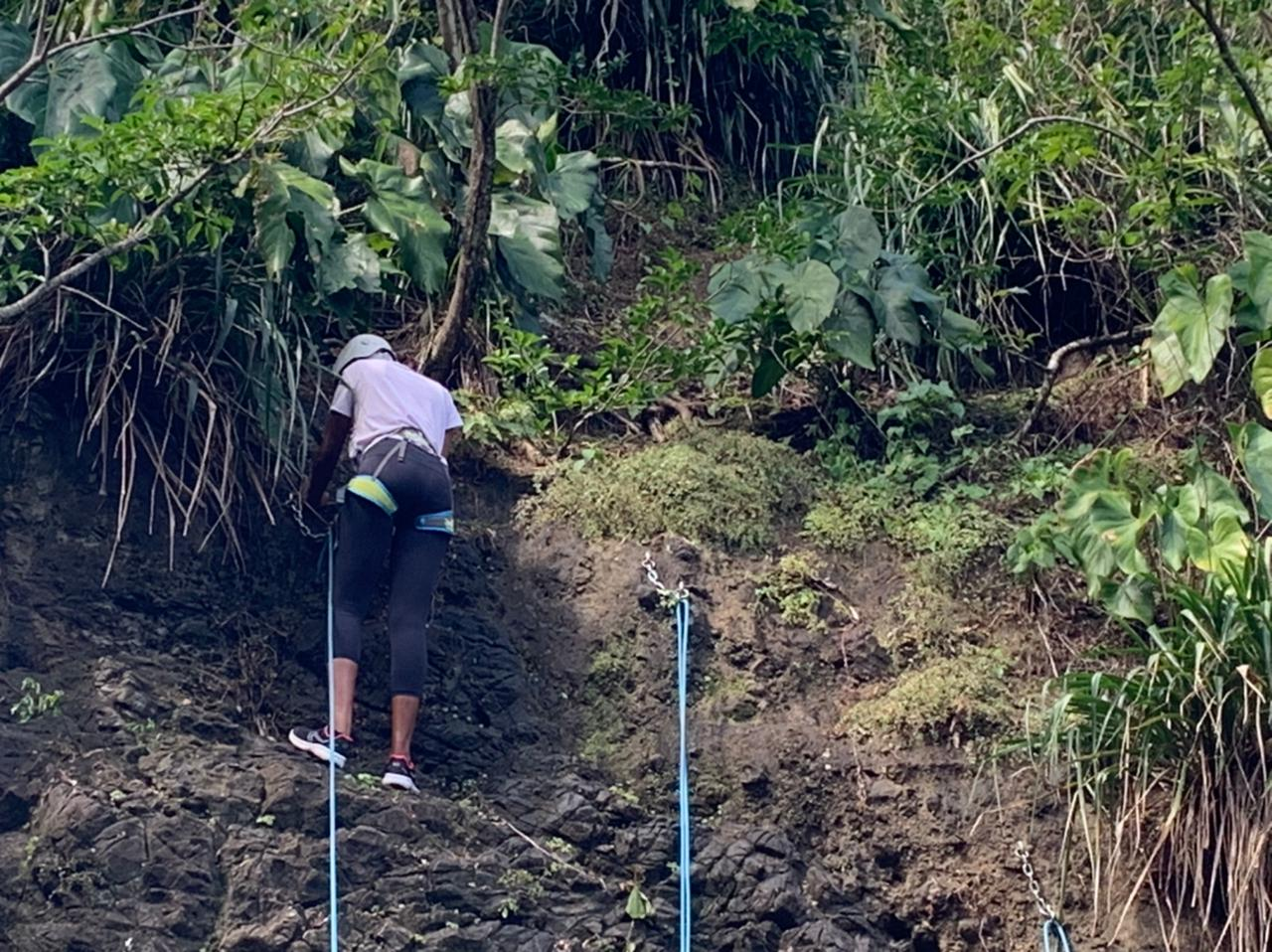Escalader le Rocher Zombi, une activité touristique à Rivière-Pilote