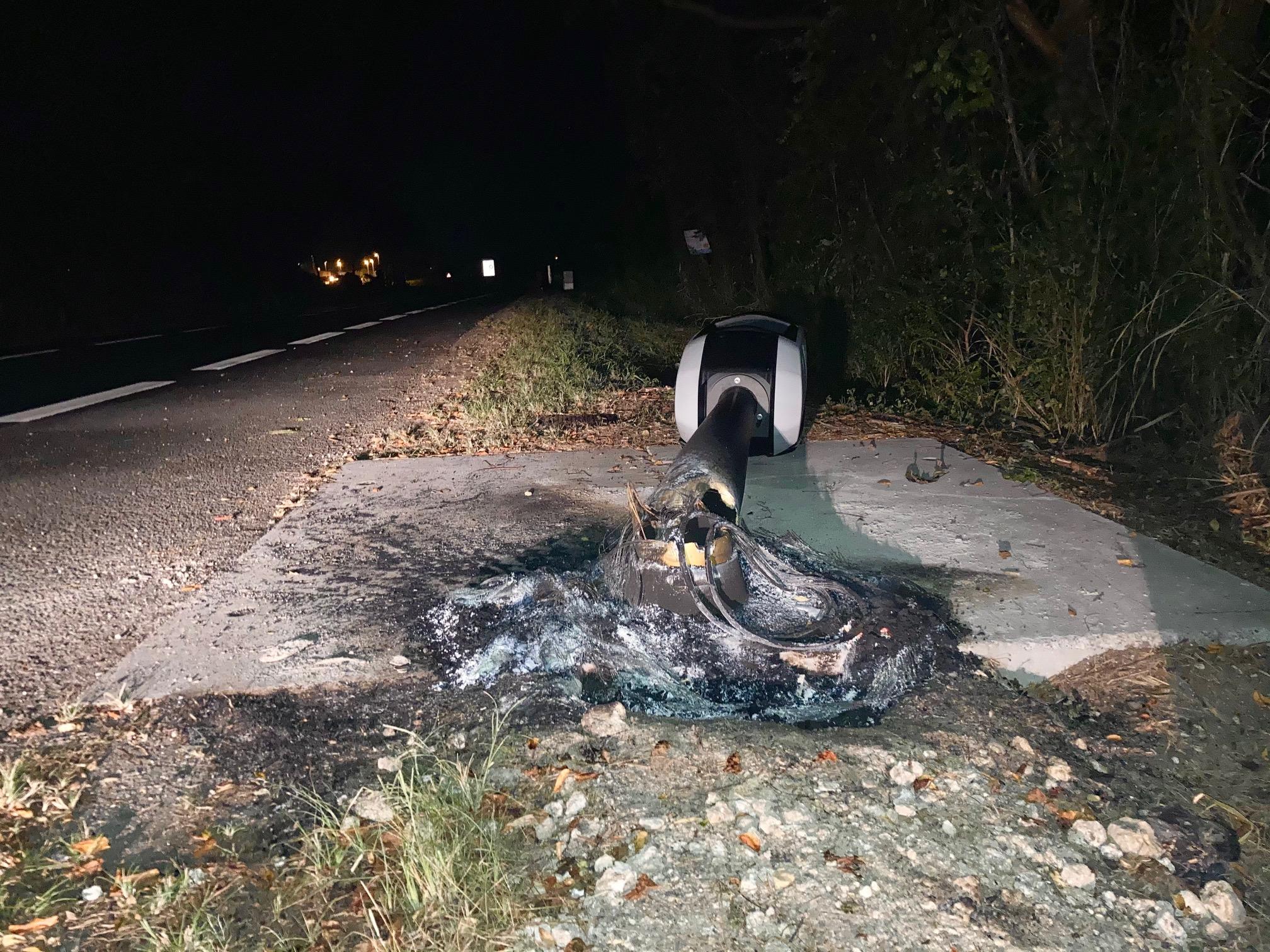 Installé jeudi, le radar tourelle de Morne-à-l'Eau a été incendié