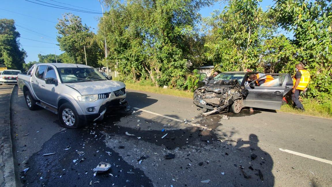 Une blessée grave dans un accident à Sainte-Anne