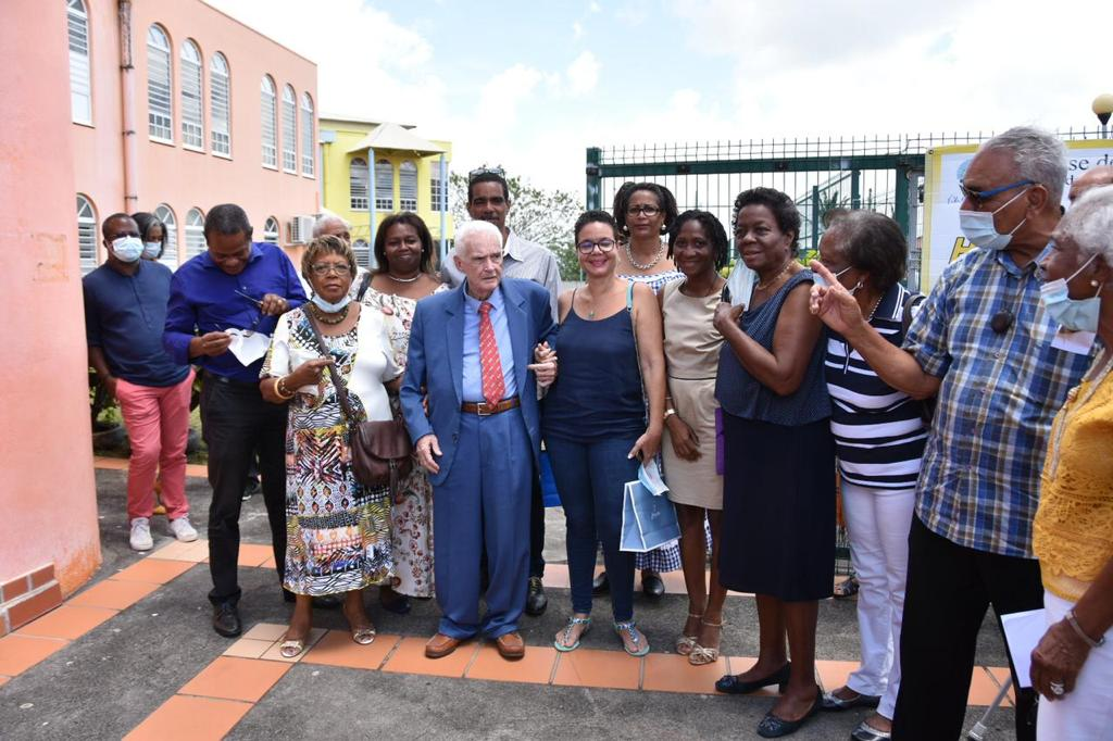 L'école maternelle des Hauts du Port à Fort-de-France baptisée du nom de Renaud Jouye de Grandmaison