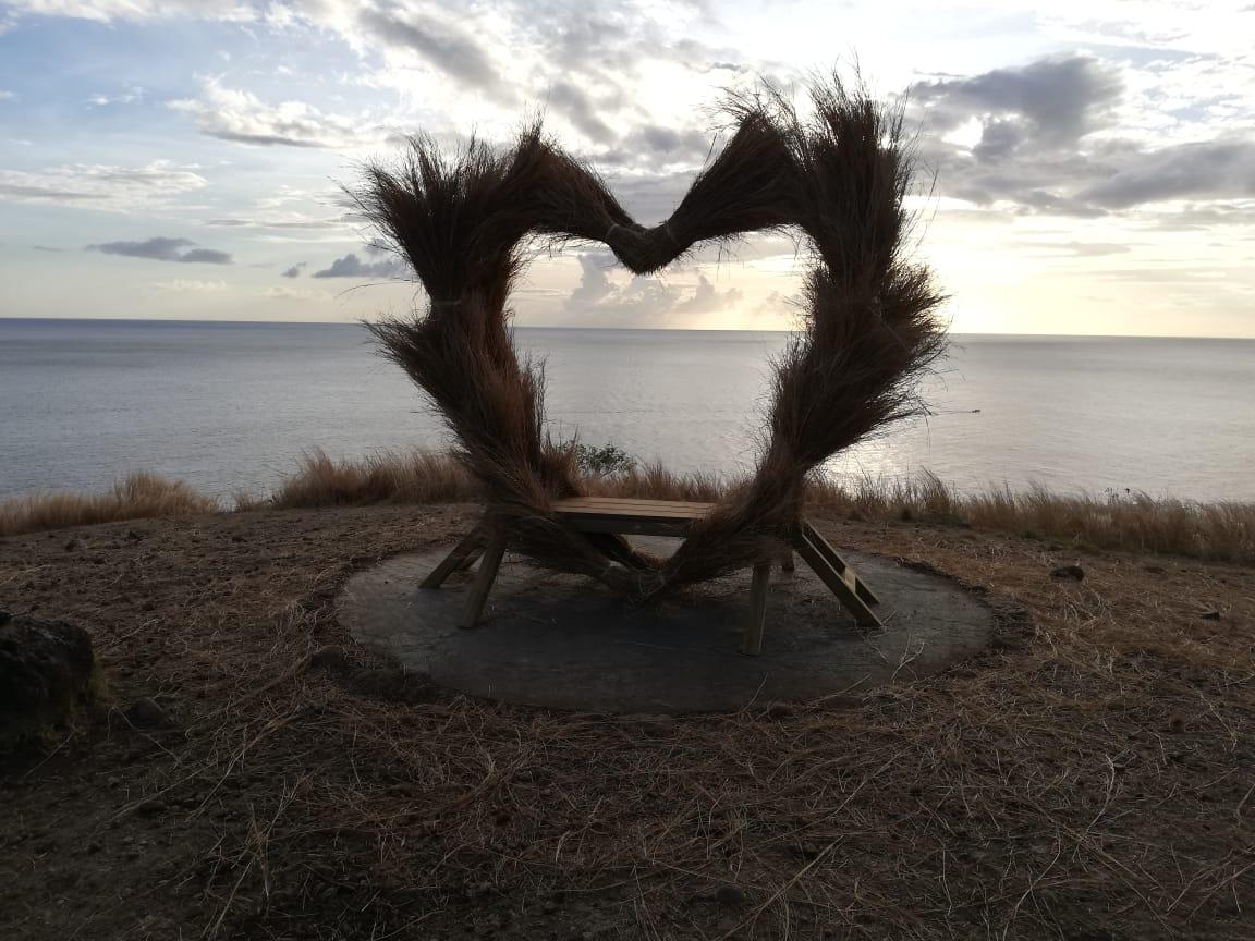 Un nouveau spot photo en cœur sur les hauteurs du Carbet