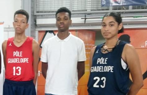 Trois Guadeloupéens intègrent le pôle basket de l'INSEP