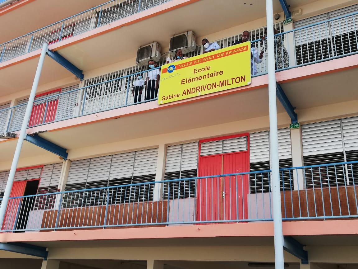 L'école élémentaire de Sainte-Thérèse rebaptisée école Sabine Andrivon-Milton
