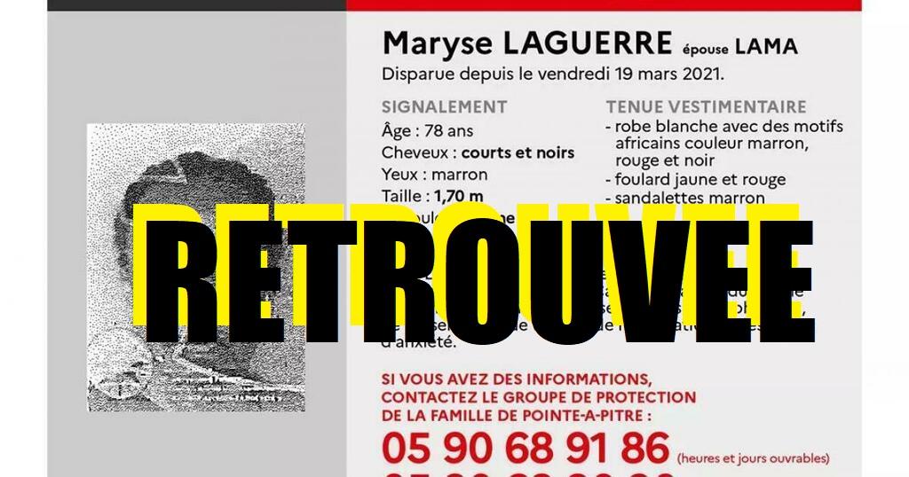 La disparue Maryse Laguerre retrouvée en bonne santé