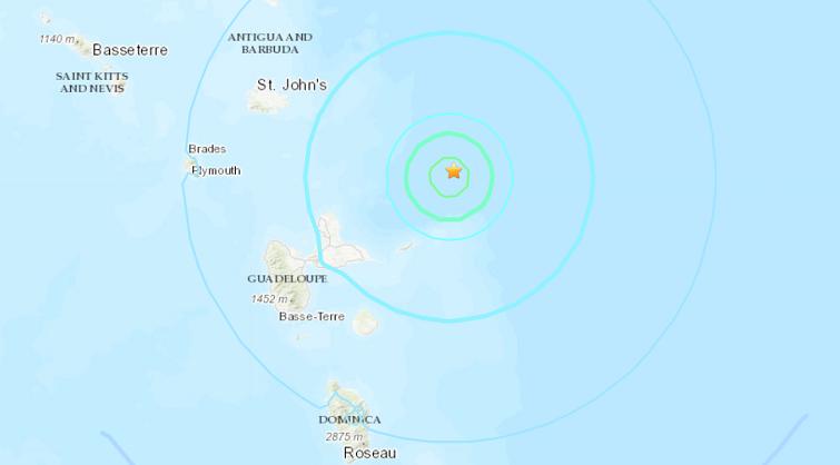 Un séisme fortement ressenti enregistré au Nord-Est de la Guadeloupe