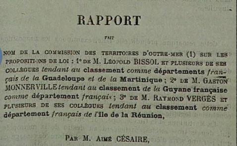 Il y'a 75 ans, la Martinique devenait un département
