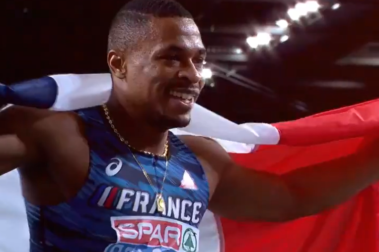 Wilhem Belocian devient champion d'Europe du 60 m haies à Torun