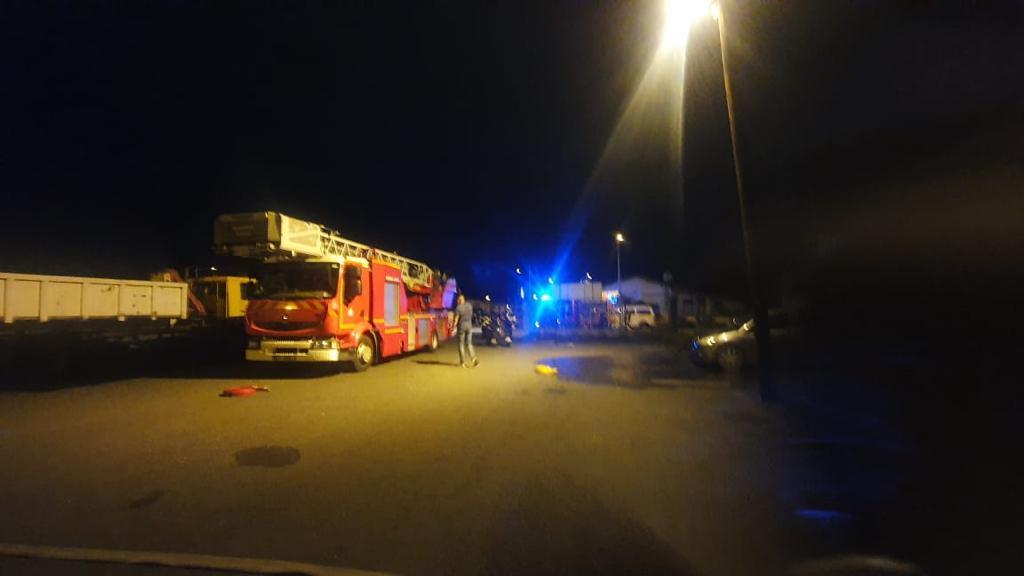 Incendie dans le garage municipal de Pointe-à-Pitre