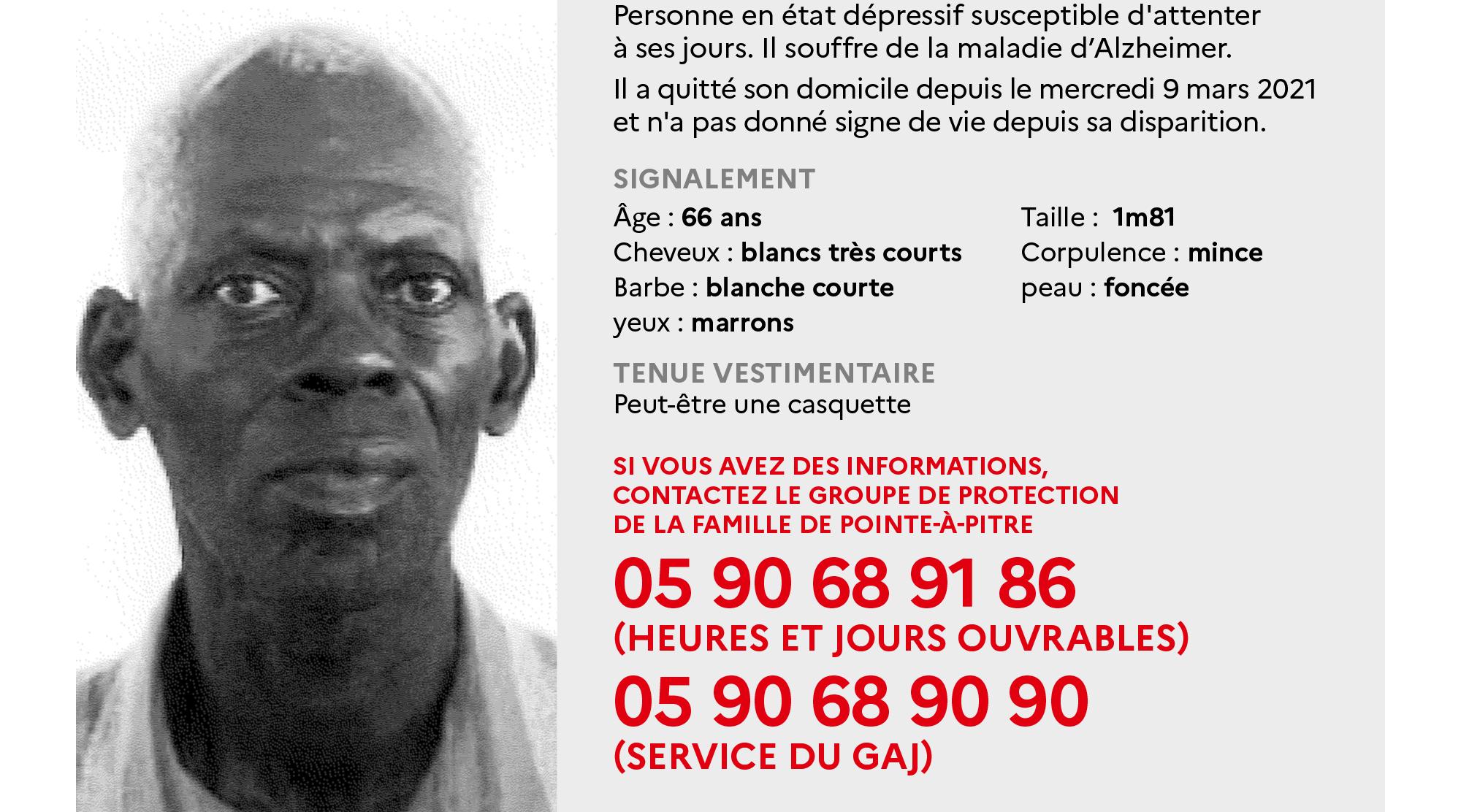Un homme de 86 ans porté disparu depuis un mois