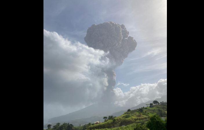 Saint-Vincent sous les cendres volcaniques