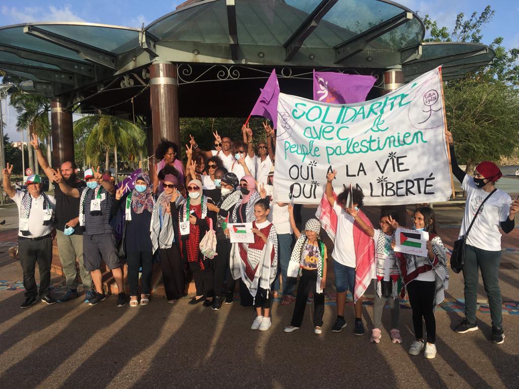 Une manifestation en soutien à la Palestine sur le front de mer de Fort-de-France