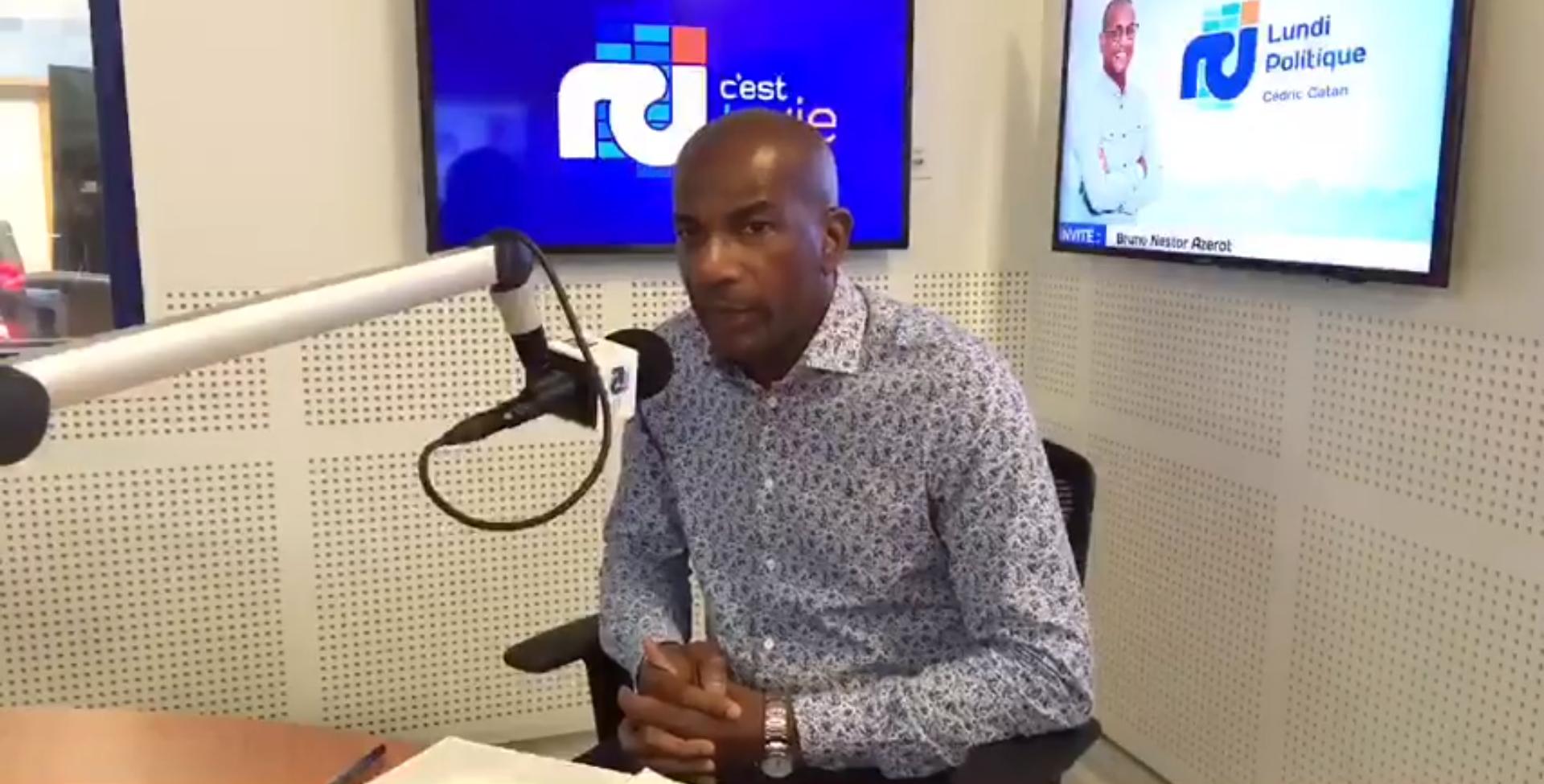 """[LIVE] Bruno Nestor Azerot, tête de section du nord pour la liste """"Alians Matinik"""", est l'invité de l'émission Lundi Politique"""