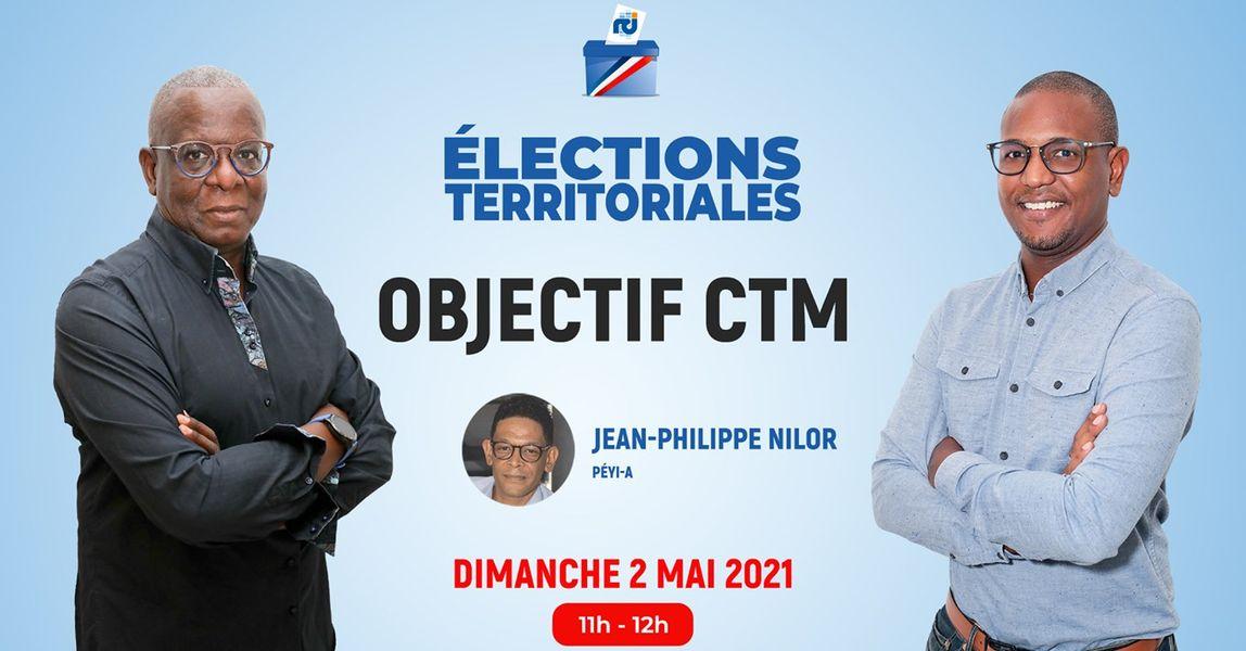 [LIVE] Jean-Philippe Nilor est l'invité d'Objectif CTM, l'émission politique de RCI