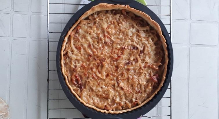 La recette de la tarte aux oignons