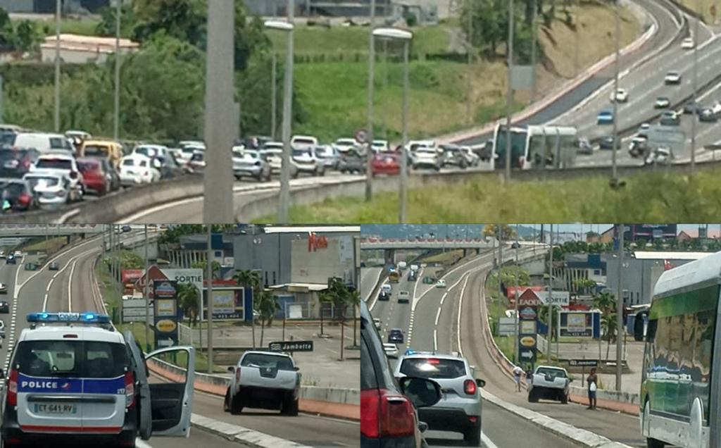 Un accident paralyse le TCSP et provoque un important embouteillage sur l'autoroute