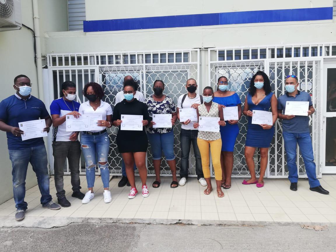 Les premiers moniteurs d'auto-écoles diplômés au CFA Cé Cédille du Lamentin