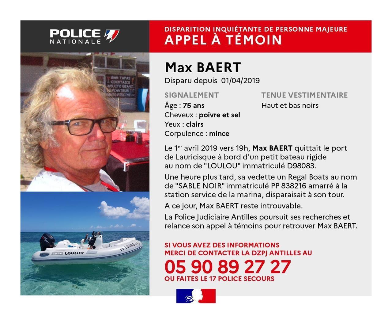 Avez-vous vu Max Baert ?