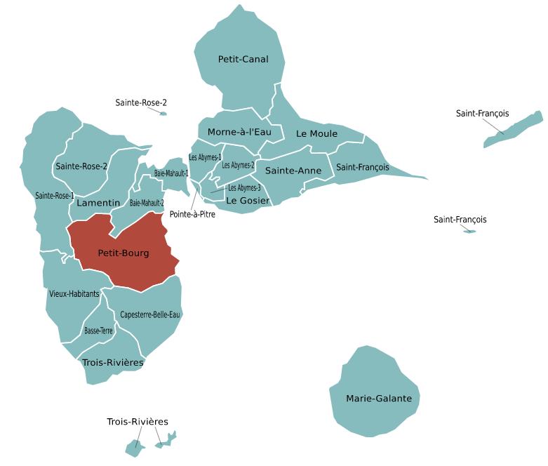 Candidatures pour le canton de Petit-Bourg