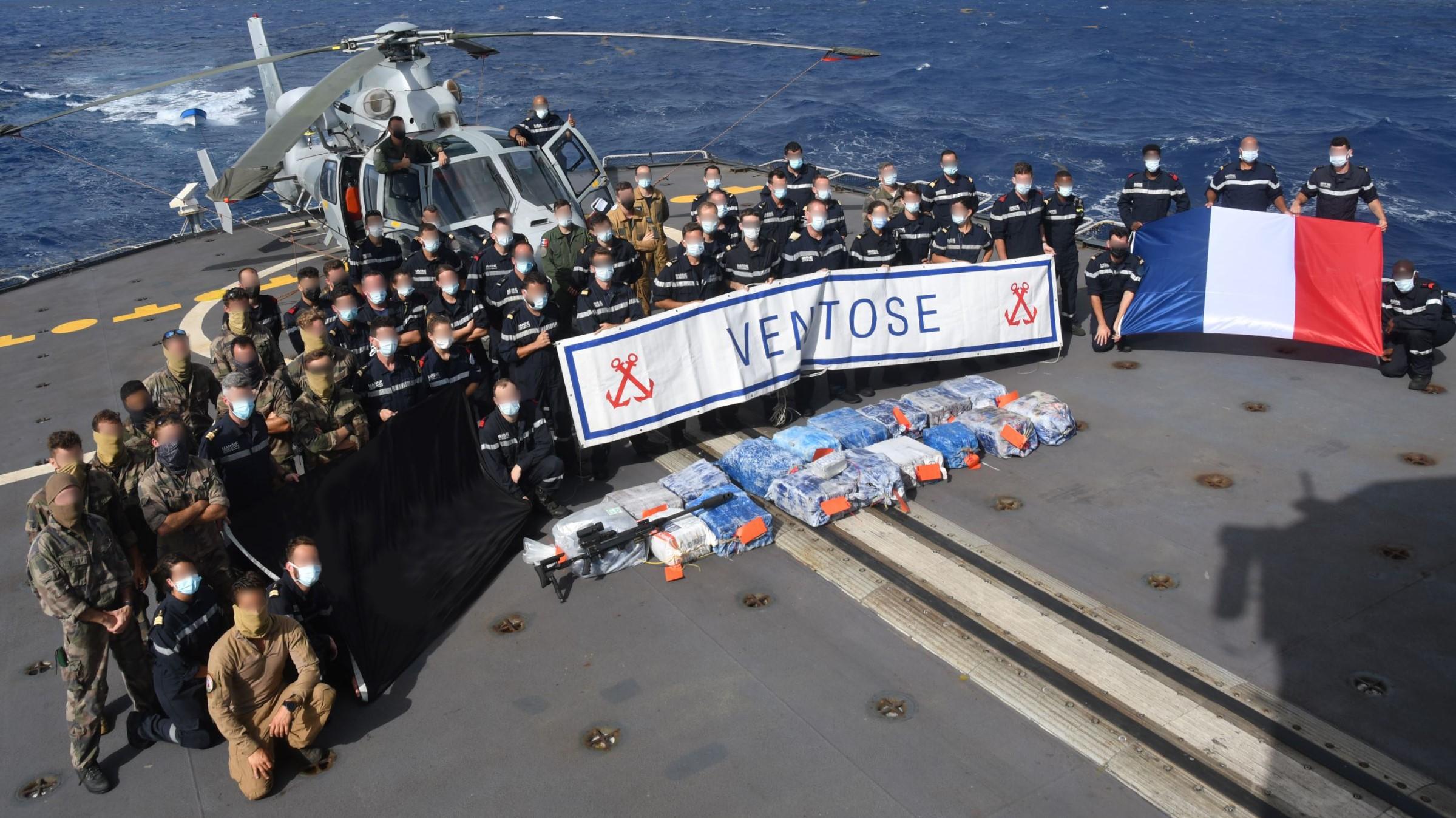 550 kilos de cocaïne saisis par le Ventôse