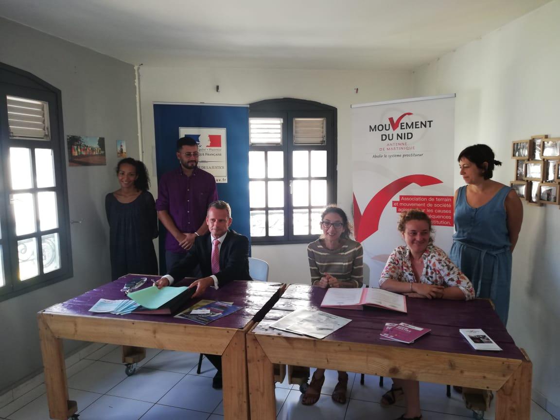 Le parquet de Fort-de-France et le Nid signent une convention pour lutter contre le proxénétisme