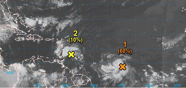 Le NHC surveille de près la deuxième onde tropicale située dans l'Atlantique