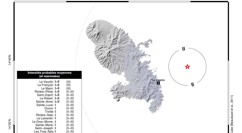 Un léger séisme enregistré avec un épicentre au nord-est du Vauclin
