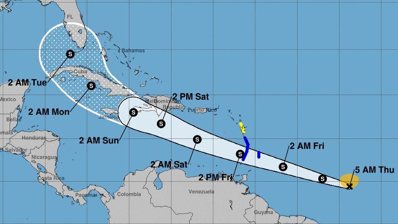 La tempête tropicale Elsa fait route vers l'Arc Antillais