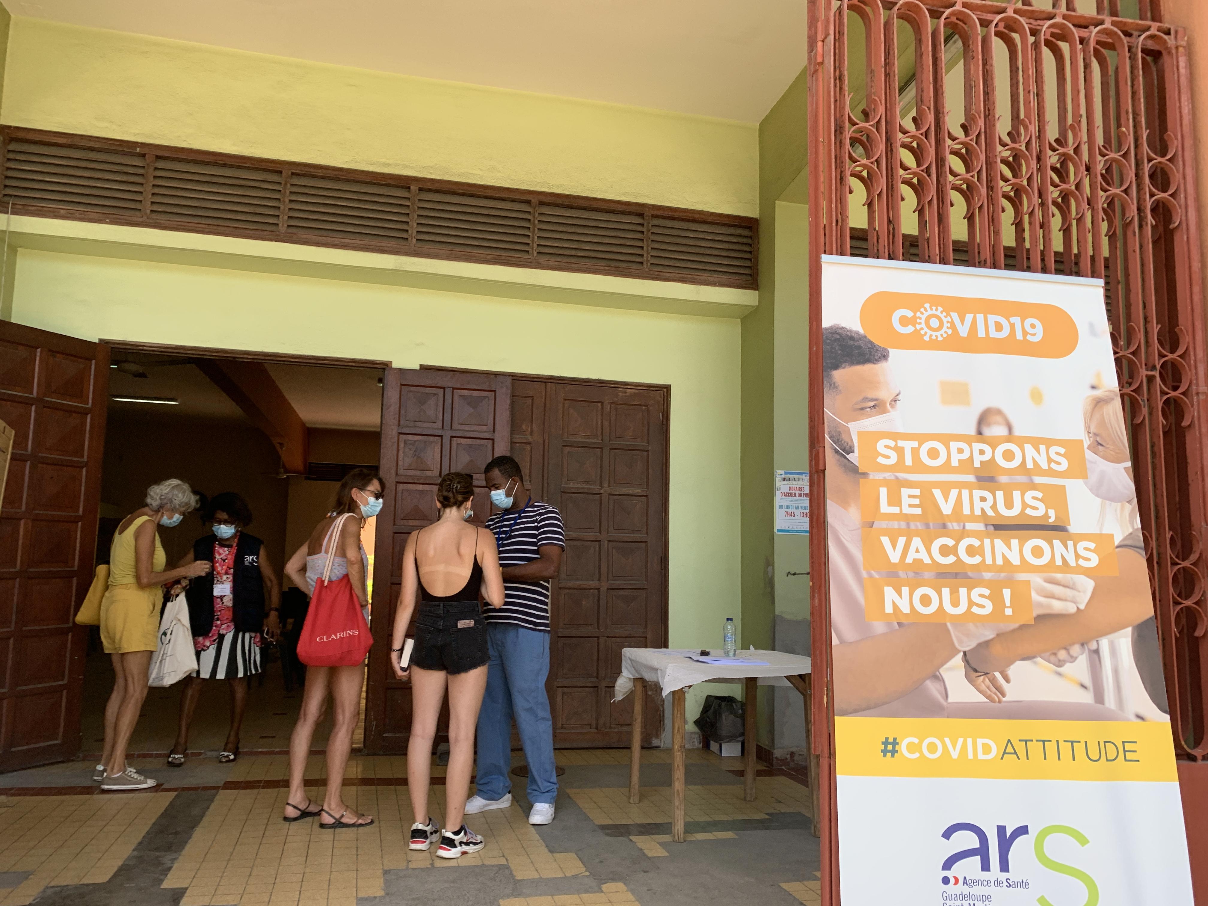 Covid-19 : un centre de vaccination éphémère à Sainte-Anne ce week-end
