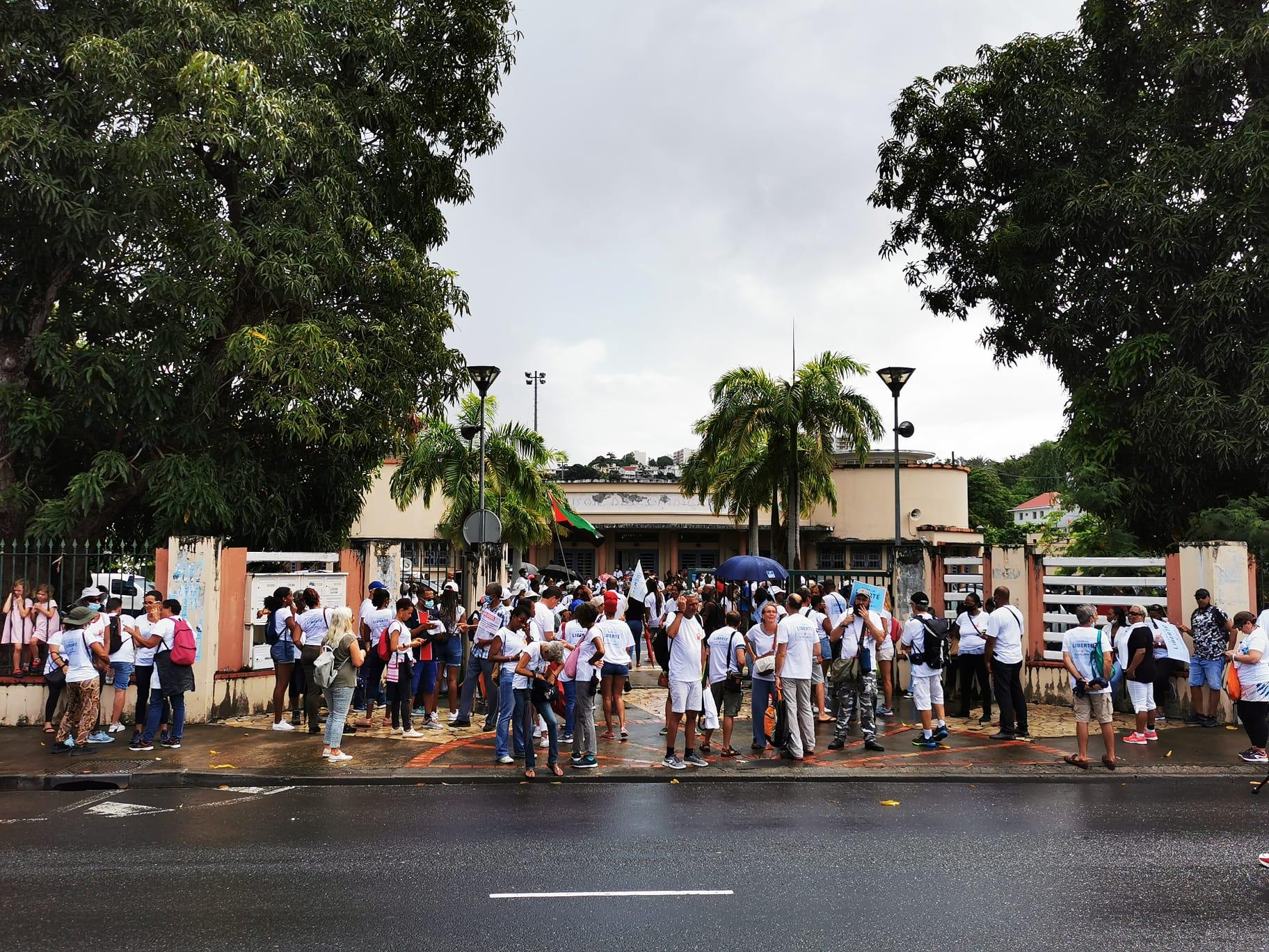 Troisième manifestation contre le passe sanitaire et l'obligation vaccinale en Martinique