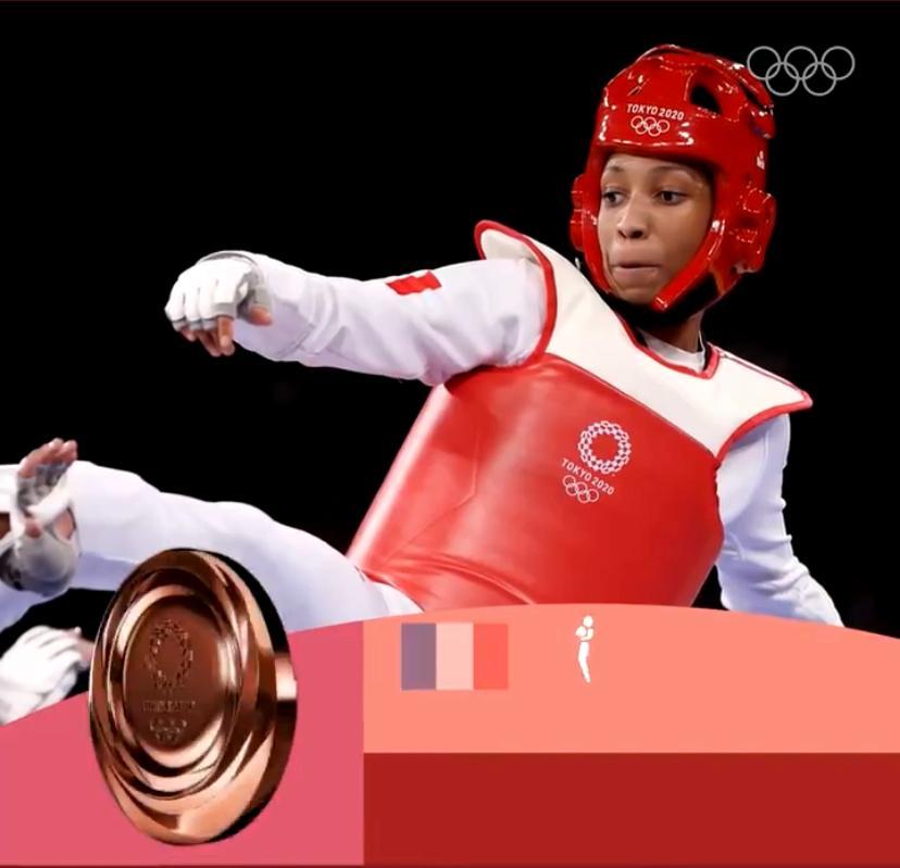 La Martiniquaise Althéa Laurin en bronze aux Jeux Olympiques de Tokyo